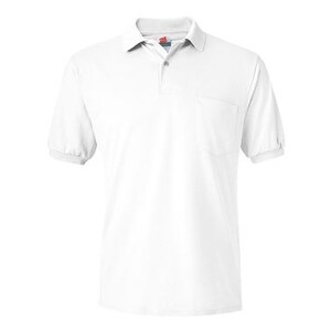 Hanes Ecosmart Jersey Sport Shirt with a Pocket - White - L