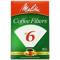 Melitta 626402 Cone Coffee Filters, 40 Count, White