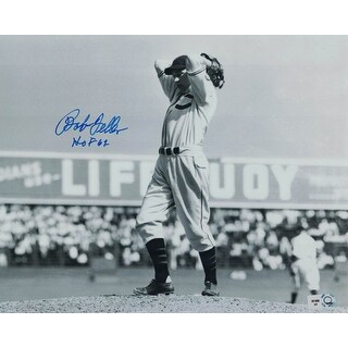 Bob Feller Autographed Cleveland Indians 8x10 Photo Wind Up MLB