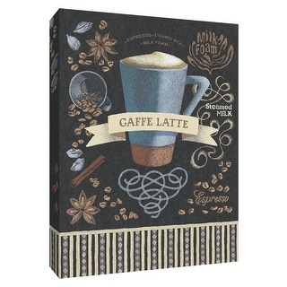 "PTM Images 9-154324  PTM Canvas Collection 10"" x 8"" - ""Caffe Latte"" Giclee Coffee, Tea & Espresso Art Print on Canvas"