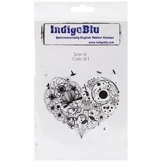 """IndigoBlu Cling Mounted Stamp 7""""X4.75""""-Love Is"""