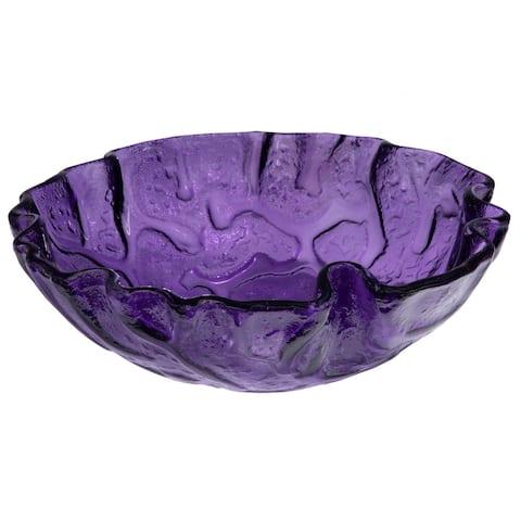 Purple Free form Wave Glass Vessel Sink
