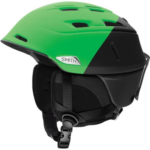 Smith Optics Camber MIPS Snow Helmet (Matte Reactor Split Green/Black, Large) - Green