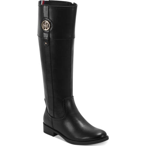 Tommy Hilfiger Womens Imina Riding Boots Faux Leather Tall