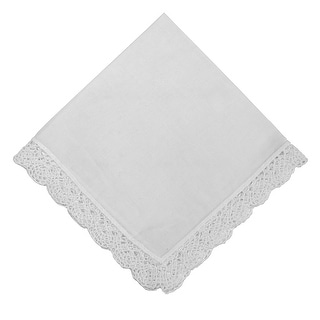 Dainty Cotton Handkerchief with Crochet Edges