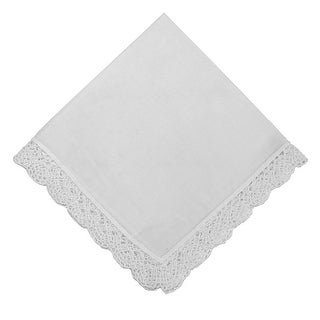 Tenderheart Handkerchief with Crochet Lace Trim