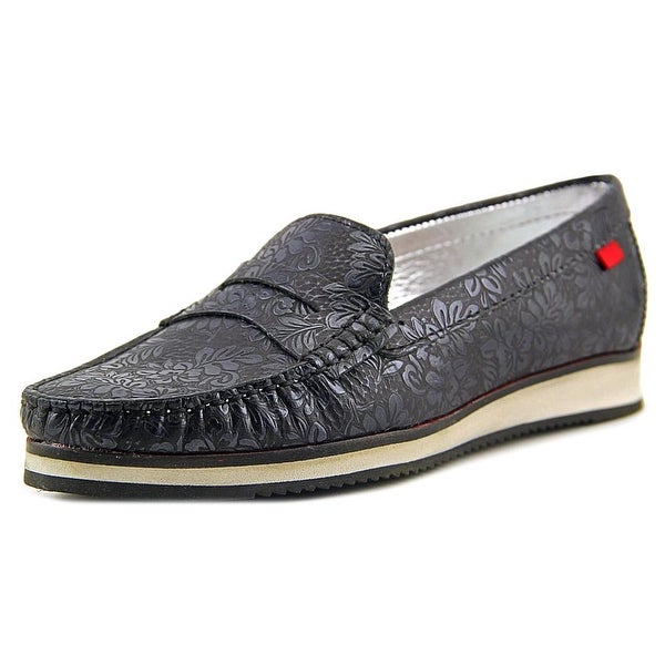 Marc Joseph Chambers St. Women Moc Toe Leather Black Loafer