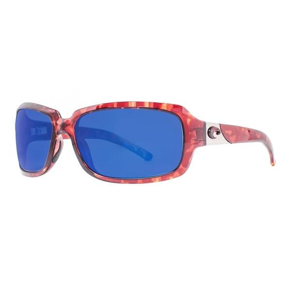 97e010b8c5 Costa Del Mar Isabela IB10OBMP Tortoise Brown 580P Blue Mirror Wrap  Sunglasses - tortoise brown -