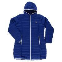 Adidas Womens Slim Coat Blue - Blue/White