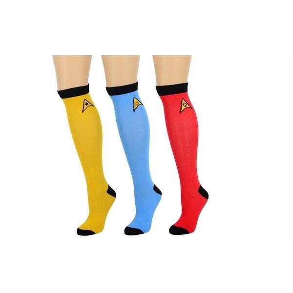 Star Trek OS Ladies Knee High 3 Pair Socks Set One Size