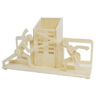 Kids 3D Sword-Playing Pen Holder Design Woodcraft Construction Puzzling Toy
