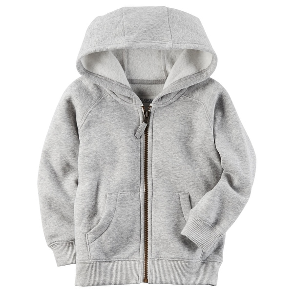 5ae9afd6a642 Shop Carter s Baby Boys  Brushed Fleece Zip-Up Hoodie  Gray