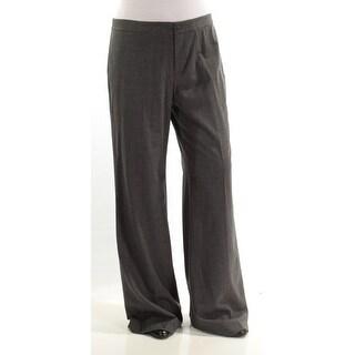 RALPH LAUREN $185 Womens New 1075 Gray Wide Leg Wear To Work Pants 10 B+B