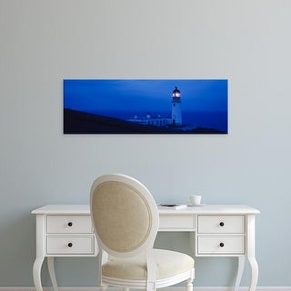 Easy Art Prints Panoramic Images's 'Lighthouse on the coast, Chicken Rock, Hebrides, Scotland' Premium Canvas Art