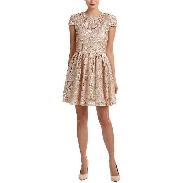 Alice + Olivia Gracia A-Line Dress. Opens flyout.