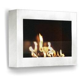 SoHo (White High Gloss) Wall Mount Bio Ethanol Ventless Fireplace