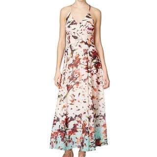 Rachel Rachel Roy NEW Pink Women's Size 6 V-Neck Floral Maxi Dress