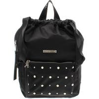 Juicy Couture Womens Pearly Girl Backpack Satin Faux Leather Trim