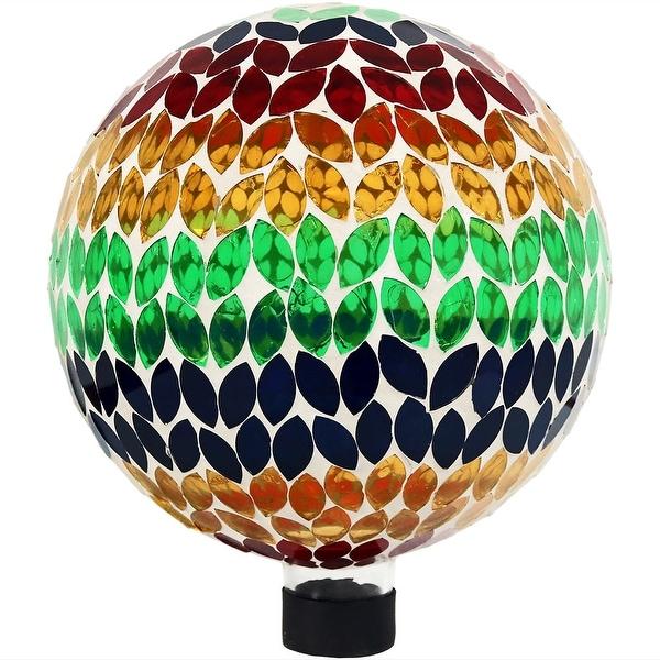 Sunnydaze Mosaic Garden 10 inch Gazing Ball Yard Decoration - Options Available