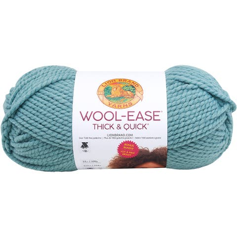 Lion Brand Wool-Ease Thick & Quick Bonus Bundle Yarn-Succulent - Green