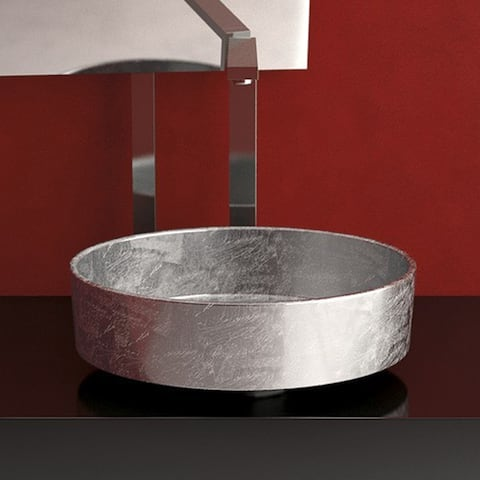 """WS Bath Collections Rho Lux Paths of Water 16-1/8"""" Circular Glass"""