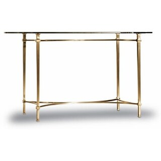Hooker Furniture 5443-10454 54 Inch Wide Metal and Glass Writing Desk from the H