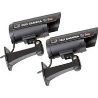 Q-See Qssigd2 Bullet Decoy Cameras And Warning Sign 2 Pack