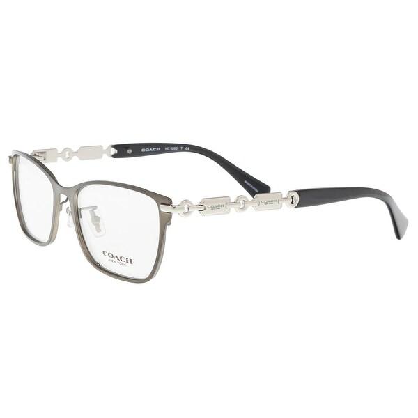 7fa952dda7 Coach HC5065 9017 Dark Silver  Black Rectangle Optical Frames - 53-17-135