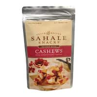 Sahale Snacks Cashews Glazed Nuts - Pomegranate and Vanilla - Case of 6 - 4 oz.