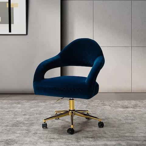 Telva Swivel Task Chair with Golden Base