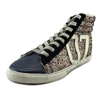 Kim & Zozi Glitter Hi Leather Fashion Sneakers