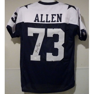 Larry Allen Autographed Dallas Cowboys Size XL Blue Jersey HOF JSA