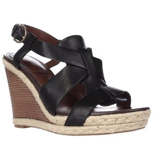 Cole Haan Breecey Wedge T-Strap Wedge Sandals, Black