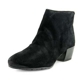 Kenneth Cole Reaction Pil Age Women Round Toe Suede Black Ankle Boot
