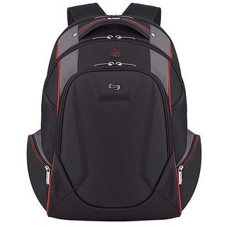 Solo Launch Laptop Backpack, Black-Gray-Red Launch Laptop Backpack