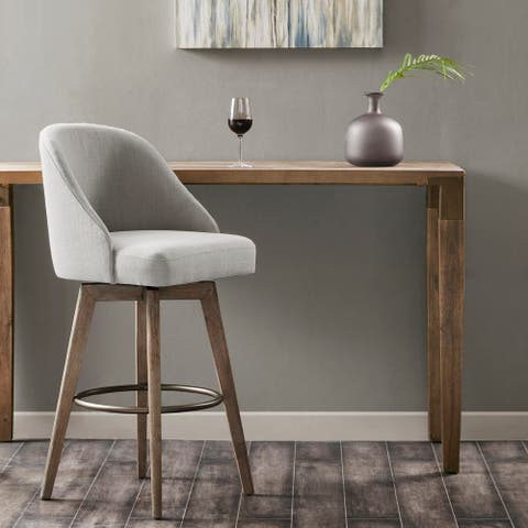 Madison Park Walsh Upholstered Bar Stool with Swivel Seat