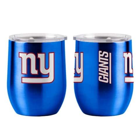 New York Giants Travel Tumbler 16oz Ultra Curved Beverage - 16oz