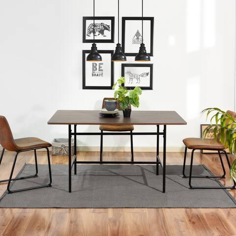 Furniture R Industrial Dark Brown Dining Table