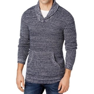 American Rag NEW Blue Mens Size Large L Shawl Collar V-Neck Sweater