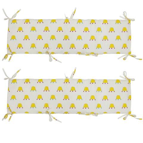 "Luckypet Cotton 2-Piece Nursery Crib Bumper Pads Cribs Padded Liner - Size: 2-Piece, 117cm(L) x 33cm(H)/46"" L x 12"" H."