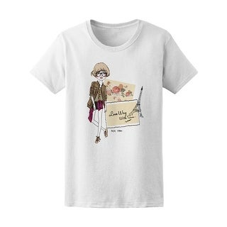 Paris Fashion Sketch Girl Women's Tee - Image by Shutterstock (5 options available)