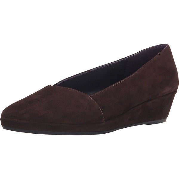 Vaneli NEW Brown Women's Shoes Size 9.5M Neddy Suede Wedge Loafer