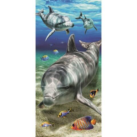 Brightness Dolphins 30x60 Brazilian Velour Beach Towel