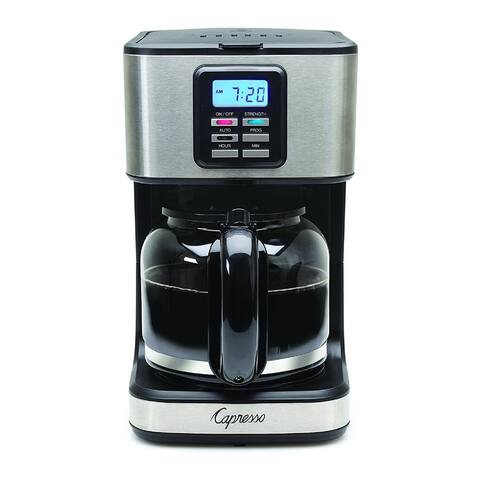 Capresso 12-Cup Coffee Maker (Stainless Steel) (Renewed)