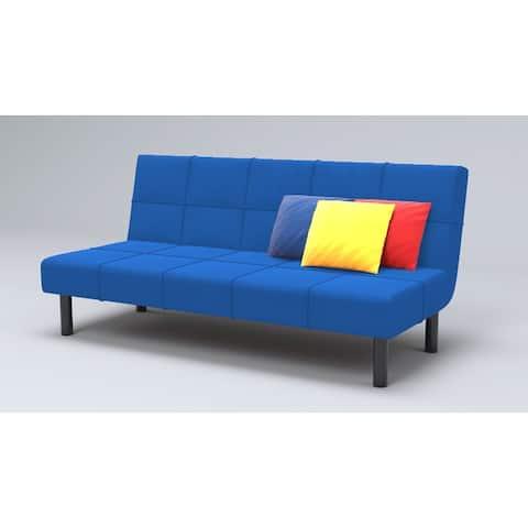 Modern Metal Frame With Foam Seat 3 Seat Convertible Sleeper Sofa