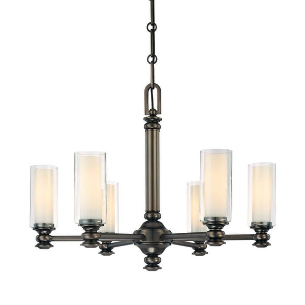Minka Lavery 4366 6 Light 1 Tier Chandelier from the Harvard Court Collection - harvard ct bronze