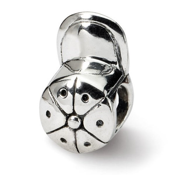 Sterling Silver Reflections Baseball Cap Bead (4mm Diameter Hole)