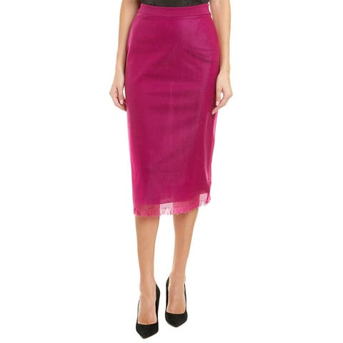 Escada Silk-Trim Pencil Skirt