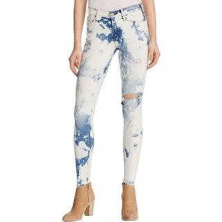McGuire Denim Womens Skinny Jeans Distressed Mid-Rise