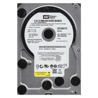 """Western Digital WD7500AYYS 750GB 7200RPM 16MB Cache SATA 3.0Gb/s 3.5"""" HDD"""